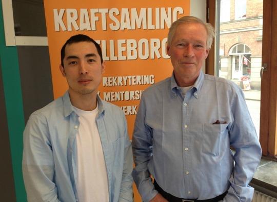 Morteza Ahmadi ser fram emot att ta del av mentorn Stefan Bergströms råd och stöttning.