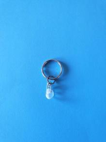 Nyckelringar m kristall - Nyckelring + 1 bergskristall