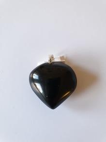 Berlock hjärta onyx - Berlock onyx hjärta