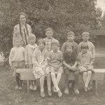 Emmys i första klassen. Bilden tagen 1928.