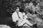 Bror Olén och sonen Leif. 1943.