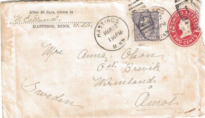 Brevet från Amerika till Anna i Brevik