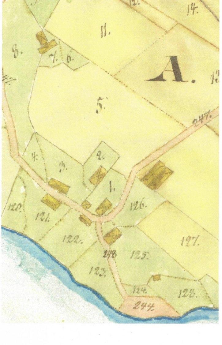 Källa: Lantmäteriet, historiska kartor, Ny socken, Brevik V - Laga skifte 1833-1834