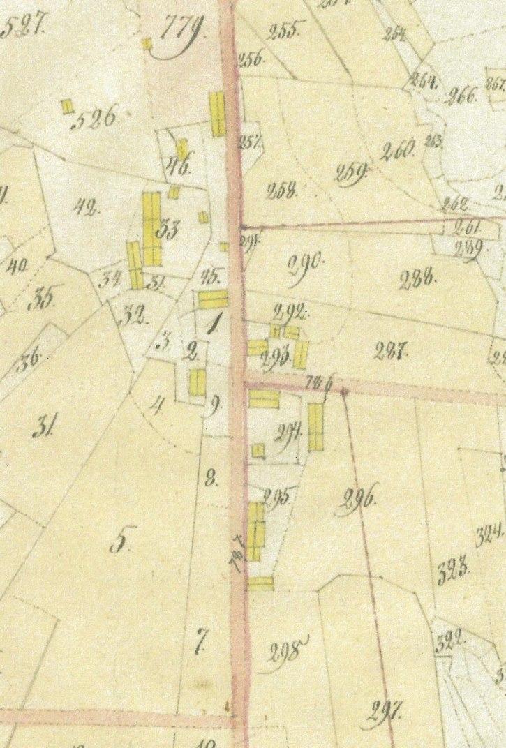 Lantmäteriets karta Laga skifte i Brevik östra 1839