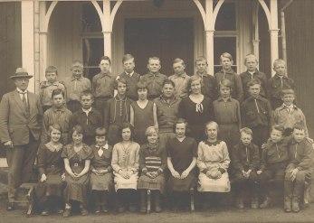 Skönbacka skola omkring 1930.