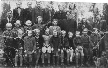 Skönbacka skola omkring 1945.