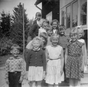 Första och andra klass 1955-1956.