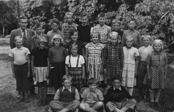 Skönbacka skola. Första och andra klass  1949-1950.