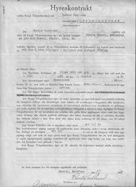 Hyreskontrakt mellan Gustav Vestlund och Kungl Telegrafstyrelsen
