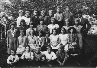 Skönbacka skola omkring 1930