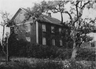 Boningshuset på Lycka. Bilden sannolikt tagen på 1940-talet