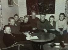 Första styrelsemötet för Breviks IS januari 1957.