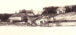 Västanviks såg omkring 1900. Inzommad bild.
