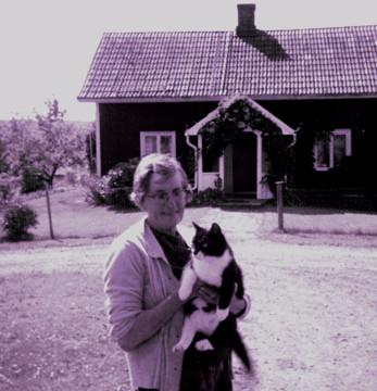 Matilda Nilsson i Änga. Bilden tagen 1973.