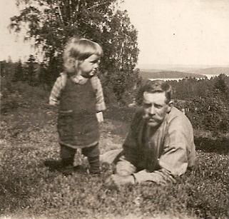 Erik Segerström född 1911 med yngre brodern Alf född 1923