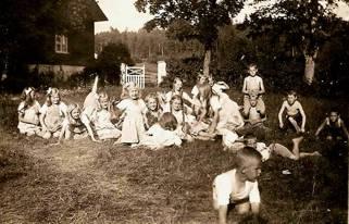 Barnkolonin på Nytomta i Sten 1922 eller 1923