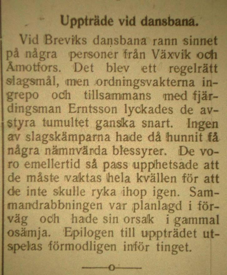 Artikel i Arvika nyheter 11 juni 1935