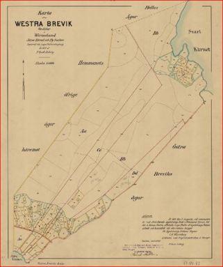 Karta Brevik västra 1837