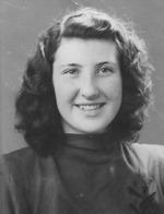 Svea Smolman gift Krogh. Bilden från 1945