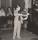 Hasse Axelsson spelar fiol. Bilden tagen omkring 1955.