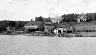Västanviks såg 1908. Foto: Gunnar Ödvall. Ur Köla fotoklubbs arkiv