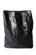Plastpåse 45x50+ 4 cm - Mörkgrå, stansade handtag, 500 st