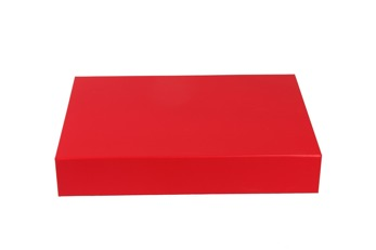 Giftbox 375x265x65mm - Röd, 30st