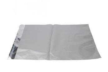 Foliepåse 40x65+5cm - Matt silver, 500 st