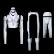 Ghost fotomannekäng, IM-GH23, helt delbar, herr, 1 st - Matt vit, 1 st