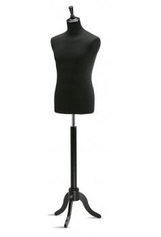 Skräddarbyst man, svart, svart fot 1 st - Svart/svart, 1 st