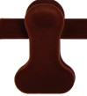Clipgalge i sammet CPI 36cm, rödbrun sammet, 10st