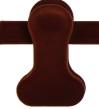 Clipgalge i sammet CPI 36cm rödbrun, 190st