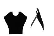 Halsbandsdisplay, svart, 1 st