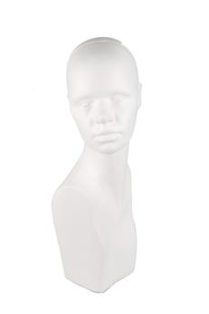 Huvud 1770, kvinna, vit 1 st - Vit, 1 st - Ej i lager för tillfället