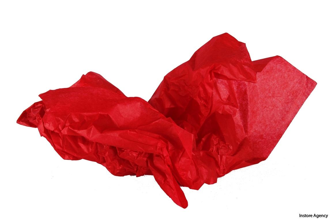 PA-SILK1301 röd skrynklig