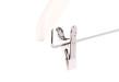 Barngalge med stång och clip 801C 35cm, vit, 10 st