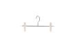 Cliphängare för skjortor 285 23cm, krom/vit, 150 st - Krom/vit, 150st