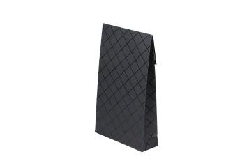 Presentförpackning 200x65x330mm, svart rutig, 40 st - Svart rutig, 40 st