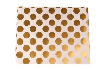 Presentpapper 57cm x 200m - Prickar guld, 1 rulle