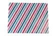 Presentpapper 57cm x 200m - Korsade linjer blå/aubergine, 1 rulle