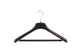 Svängd galge med stång KOA 43cm svart, 70 st - Svart, 70st