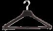 Svängd galge med stång KOA 46cm svart, 80 st - Svart, 80st