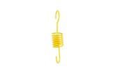Spiral med krok gul gummering 692, 5 st