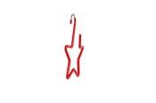 Stjärna med krok röd gummering 691, 5 st