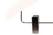 Hängare WT 43cm med stång och clip, vit, 10st