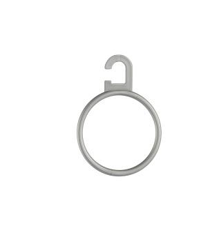 Scarvehängare i plast F24 dia 5,5cm silvergrå 50 st - Silvergrå, 50st