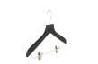Hängare med stång och clips, gummilack WT 42cm, svart, 50 st