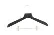Hängare med stång och clips, gummilack WT 42cm, svart, 50 st - Svart 50st