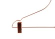 Metallgalge 679 42cm med stång och clips, koppar, 10 st