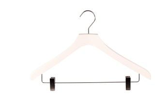 Hängare WT 43cm med stång och clip, vit, 50st - Vit, 50st